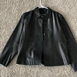 Banana republic black leather jacket